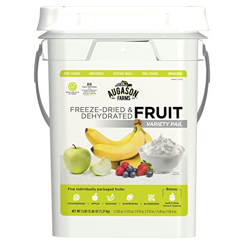 Augason Farms Fruit Variety Pail Long Term Food Storage Everyday Food Prep Camping Hiking 4 Gallon Pail