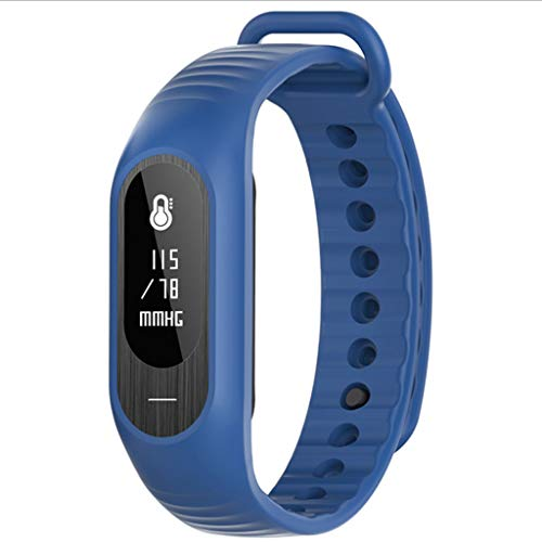 XUANLAN Braccialetto Intelligente del Bluetooth del pedometro dell'orologio Intelligente di Salute dell'orologio del Braccialetto del monitoraggio della frequenza cardiaca del Sangue Professionale