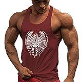 HOTCAT Homme Musculation Débardeur sans Manche Maillot de Corps Tank Top Fitness Gym Stringer T-Shirt