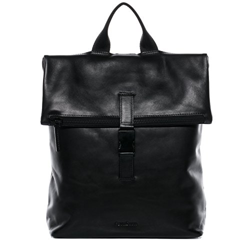 """FEYNSINN Rucksack echt Leder MATS groß Kurierrucksack Laptoprucksack Backpack Tagesrucksack Laptopfach 15.6"""" Lederrucksack Unisex schwarz"""