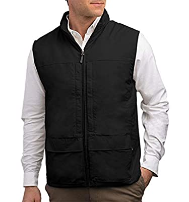 SCOTTeVEST Quest Vest for Men - 42 Pockets - Black Utility Vest - Stowable Hood (BLK XL) from