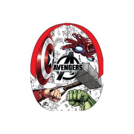 Gorra de béisbol con diseño de Avengers de Marvel para niños UE4107 con Espalda Ajustable de 3 a 8 años 52-54 cm