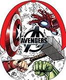 Gorra de béisbol con diseño de Avengers de Marvel para niños UE4107 con Espalda Ajustable de 3 a 8 años 52-54 cm (Rojo)