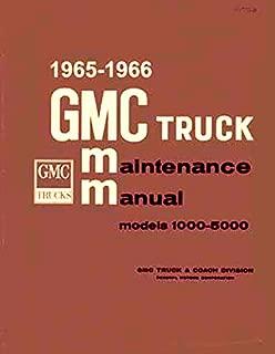 1965 1966 GMC Pickup and Truck Repair Shop Manual 1000 1500 2500 3000 4000 5000