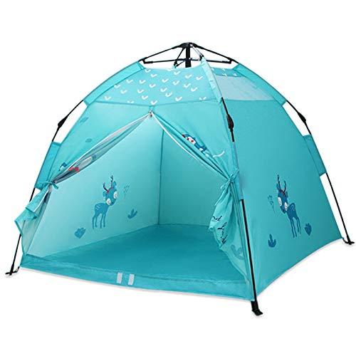 SZTUCCE Tienda de niños Portátil Playhouse Camping Plegable Tienda de campaña Interior Playa al Aire Libre Niños Tienda Pink Princess Castle Habitación Decoración Pop Up Tent Fishing Tent Tents