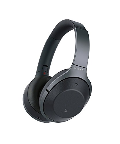 Sony Noise Cancelling Headphones WH1000XM2: Over Ear Wireless Bluetooth Headphones with Microphone - Hi Res Audio and Active Sound Cancellation - Black (2017 model)