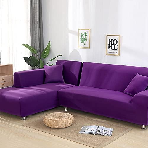 WXQY Funda de sofá Gris elástica Funda de sofá ordinaria Funda de sofá de Sala de Estar Funda de sofá de Esquina combinada A9 2 plazas
