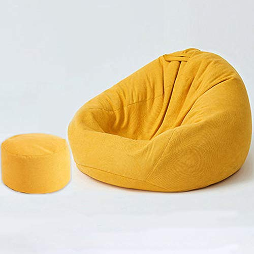 XXCC Sitzsack,Lazy Sofa Sitzsack,Einzelliege,Schlafzimmerbalkon Kleiner Sofa Lounge Chair,aus feinem Samt Leinen,bequem und atmungsaktiv,weich und hautfreundlich,90 * 120 cm,Poltrona a Sacco