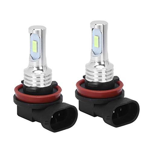 EBTOOLS Bombillas de luz antiniebla LED 2 piezas H8 / H11 80W 8000K Lámpara de bombilla de luz antiniebla LED Azul hielo 12-24V Bombillas de luz antiniebla universales para coche Accesorio de repuesto