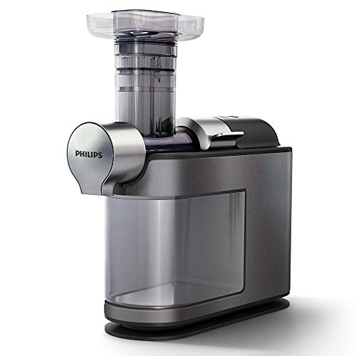 Philips Avance Cold Press Micro Masticating Slow Juicer, Slim Design, Quick Clean, 1 Litre, 200W – Metallic Grey– HR1947/31