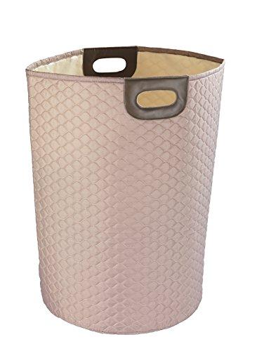 WENKO Panier à linge Wabo taupe - Panier à linge Capacité: 75 l, Polyester, 40 x 60 x 40 cm, Taupe