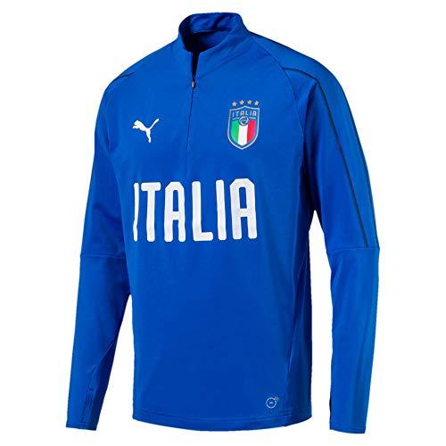 PUMA Herren FIGC Italia 1/4 Zip Training Top Sweatjacke, Team Power Blue-White, S