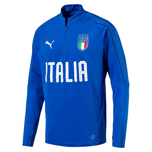 PUMA Herren FIGC Italia 1/4 Zip Training Top Sweatjacke, Team Power Blue-White, S