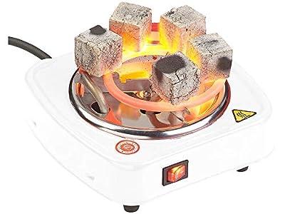 Duvence Shisha-Kohle-Brenner: Elektrischer Mini-Kohle-Anzünder für Shisha, bis 7 Briketts, 500 Watt (Elektrischer Shisha-Kohleanzünder)