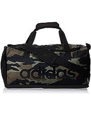adidas Unisex Linear Core Small Camo Duffel Bag, Black/Black/Black