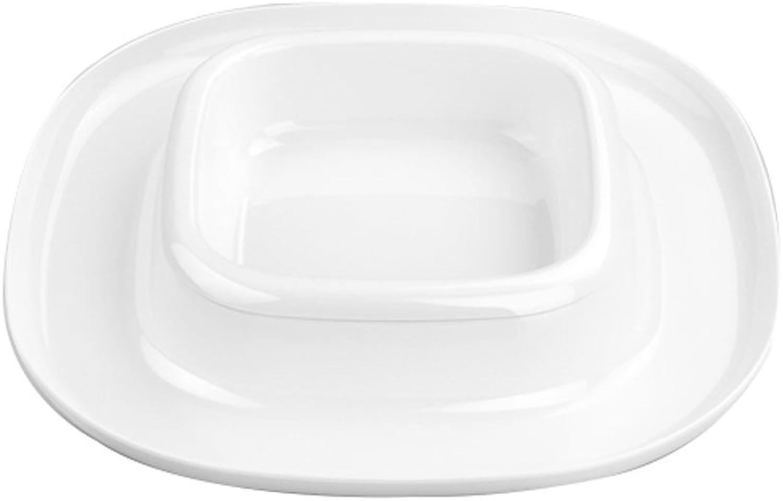 Pet Bowl Pet Bowl Cat Dog Food Bowl Water Bowl Crimping Splashproof Leak Proof Cat Supplies (Size   22  22  4cm)