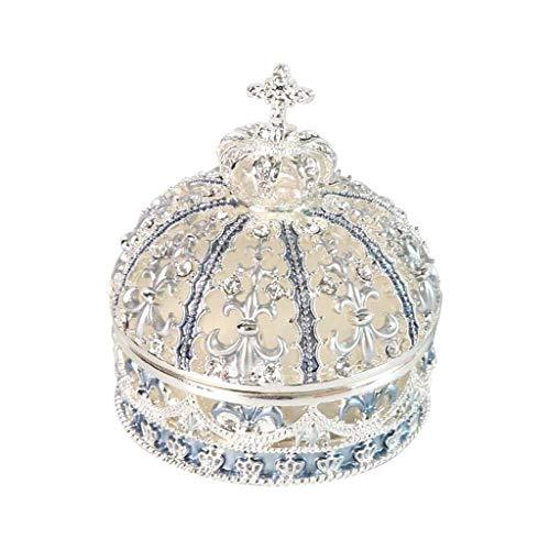 Schmuckschatulle Geburtstagsgeschenk Schmuckschatu Caja de joyería Crown Design Jewelry Box Ring Tinket Case Navidad Cumpleaños Regalo Boda Propuesta Anillo Caja de almacenamiento Regalo Joyería Joyer