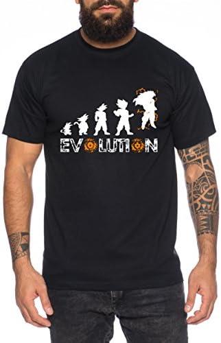 WhyKiki Super Son Goku Evolution Camiseta de Hombre Goku Dragon Master Son Ball Vegeta Turtle Roshi Db