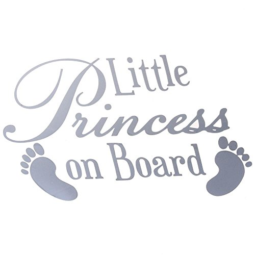 Nelnissa Baby Feet Little Princess on Board Autocollant en Vinyle pour Pare-Chocs de Voiture Blanc