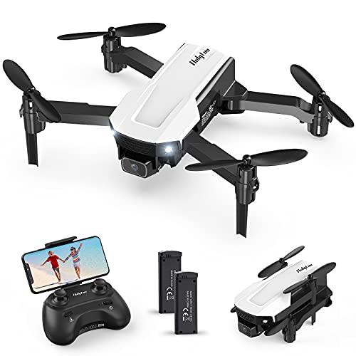 Holyton ドローン カメラ付き 折り畳み式 1080P高画質 小型 こども向け 200g未満 WiFi FPVリアルタイム バッテリー2個付き 初心者向け 2.4GHz 放り投げ飛行 モード1/2自由転換可 国内認証済み プレゼント HT25