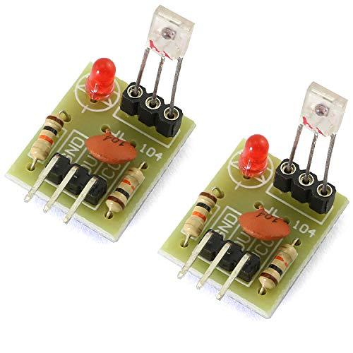DZS Elec 2PCS 5V Laser Recevier Sensor Module Board for Arduino Raspberry Pi Non-modulated