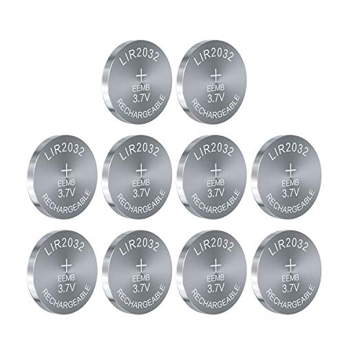 10PCS EEMB LIR2032 Rechargeable Battery 3.7V Lithium-ion Coin Button Cell...