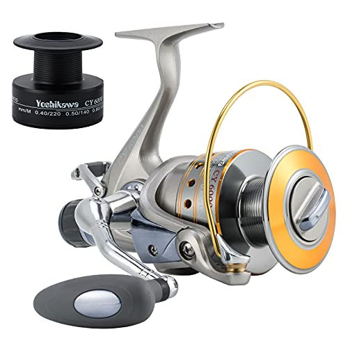 Yoshikawa Baitfeeder Spinning Reel 3000 Bass Fishing Reel 5.1:1 11 Stainless Ball Bearings Ultra Smooth Left Right Hand Changeable