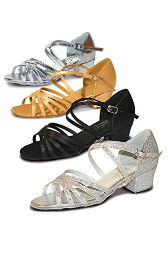 Roch Valley Bella Standard Tanzschuh für Damen und Mädchen Silber 5L (38)