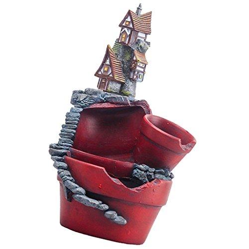Sharplace Pot de Plantes Fleurs Succulentes Mini Arbre Design Créatif Château de Fée - château magique