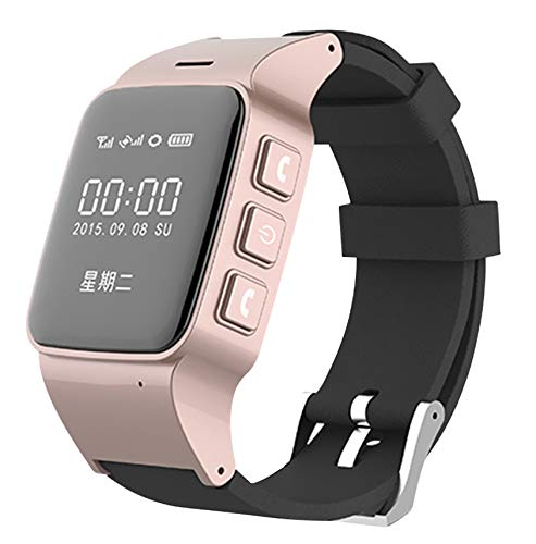 Beacon Pet Elderly Smart Watch with Dual Way Call SOS Anti-Lost GPS Pedometer WiFi Tracking Remote Monitor Watches for iPhone Android Phones - Rose Gold