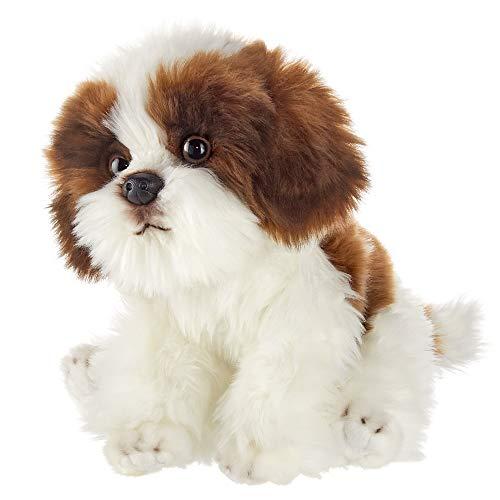 Bearington Bentley Plush Shih Tzu Dog Stuffed Animal, 13 Inches