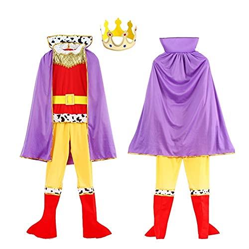 Disfraz de Rey nios Medieval Caballero Disfraz de Elegante Vestido de fantasa de Halloween Traje de Fiesta (Color : R01, Size : M)