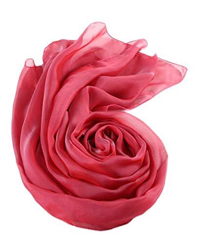 prettystern Stola Pura Seta Foulard Taffetà Sfumature Bicolori Donna Cerimonia Scialle Abito Da Sera 16. Pink Rosa