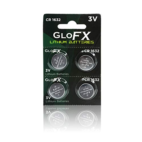 CR1632 Battery– Lithium Button Coin Cell Batteries - 3V 3 Volt - Remote Watch Jewelry led Key fab Replacement 1632 CR Pack Set Bulk (4 Pack)