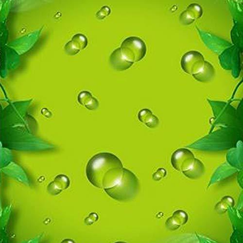 Msrahves Fotomural Vinilo de Pared Fondo fresco verde gotas de agua grande Mural TV Fondo Papel de pared Sala de estar Sofá Dormitorio Papel tapiz Papel pintado creativo moderno tejido no tejido
