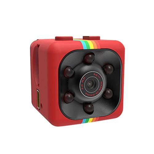 Mini cámara espía 1080P Full HD portátil cámara oculta con visión nocturna IR y cámara de acción de detección de movimiento para hogar/oficina