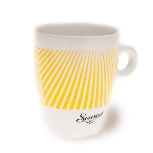 Senseo Limited Edition Tasse, Let us surprise you, Steingut, Becher, Kaffeetasse, Creme Gelb 180 ml