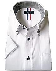 [パリス16ク] ワイシャツ メンズ 半袖 形態安定 ボタンダウン ドゥエボットーニ カッタウェイ