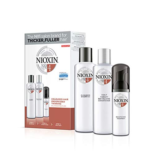 Nioxin 3-Step Kit System 4 - Colored Hair and Scalp Care Treatment –...
