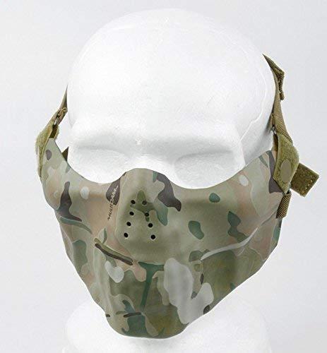 Pinalloy TMC Multicam Nylon Tactical Protective Half Face Mask para Airsoft Paintball