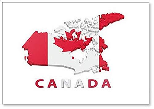 Aimant de réfrigérateur carte du Canada avec drapeau