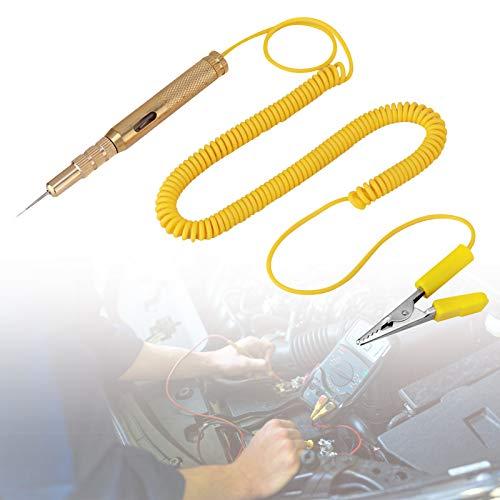 Bolígrafo probador de circuito de voltaje de coche DC 6V 12V 24V, probador de circuito de luz automotriz eléctrico, color dorado