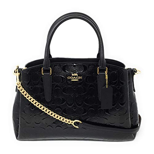 COACH Signature Patent Leather Sage Carryall Black/Black One Size