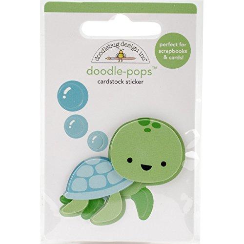 DoodlebugDoodlebug Doodle-Pops 3D Stickers-Kleine Schildpad, andere, Multi kleuren