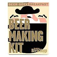 Brassez votre propre petit déjeuner Mikkeller Beer Geek à la maison. Comprend un fermentateur en verre, un thermomètre, un tube, une canne de rangement, un système de fermeture à air, un désinfectant, un mélange de céréales, du houblon et de la levur...