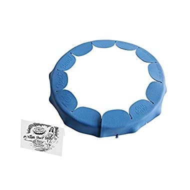 Talisman Designs Adjustable Fluted Pie Crust Shield, BPA-free Silicone, Royal Blue, Fits 8.5  - 11.5  Fluted Dish