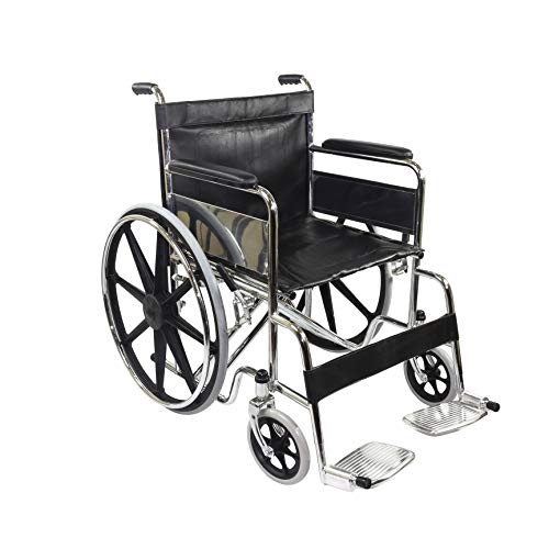 KosmoCare Dura Heavy Duty Foldable Wheelchair for Heavy Patients (Regular)