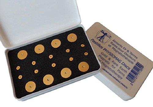 18 Magneten fur Magnettherapie - Durchmesser von 12 mm und 5 mm - Physiomag