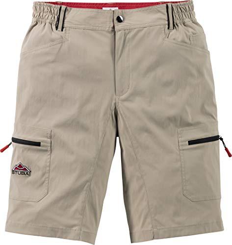 Stubai Herren Funktionsshorts in Beige, sportliche Shorts für Männer, Kurze Outdoor-Hose, Bermuda, Freizeithose, Herrenbekleidung, Gr. 48-60