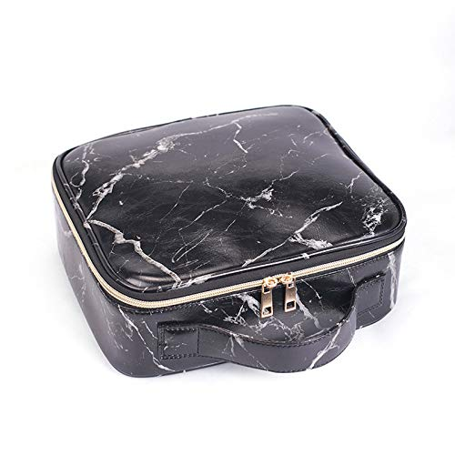 Nueva Bolsa de cosméticos portátil Impermeable de mármol para Mujer, Maquillaje, Bolsa de Organizador de Maquillaje, Kits de Viaje de Gran Capacidad